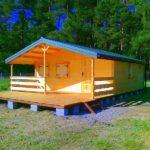 domy letniskowe drewniane z tarasem